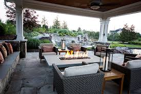 covered outdoor kitchens with fireplace. Modren With 14openairgasfirepitcoveredpool With Covered Outdoor Kitchens Fireplace