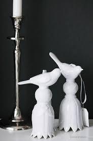 Decorative hanger <b>Birds</b> Set <b>2 pcs</b> white
