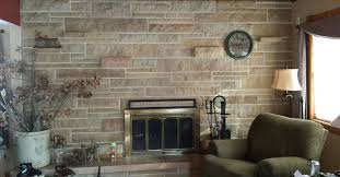 Updating a stone fireplace wall | Hometalk