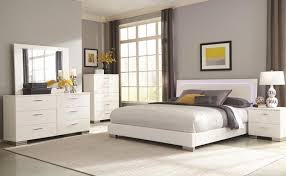 Coaster 40 Felicity Glossy White Bedroom Set With LED Lighting Awesome Glossy White Bedroom Furniture