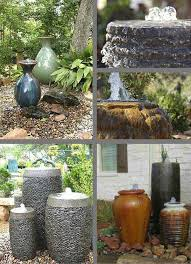 various bubble water fountains can do the trick regardless of their shape