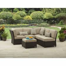 better homes and gardens cadence wicker outdoor sectional sofa set pertaining to top replacement cushions for