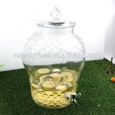 glass drink dispenser diamond glass drink dispenser lemonade beverage jar with spigot glass beverage dispenser with