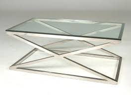 chrome leg coffee table remarkable glass and chrome coffee table and chrome cross leg coffee table