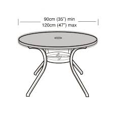 4 6 seater round table top cover