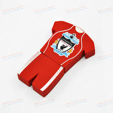 liverpool football club custom pvc football clothing usb stick