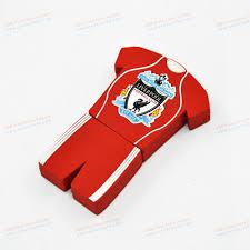 liverpool football club custom pvc football clothing usb stick