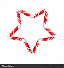 Candy Cane Design Candy Cane Star For Christmas Design Isolated On White