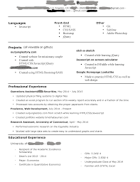 Starting to look for jobs as a jr front end web developer. How's my resume  look?