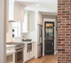 black pantry door