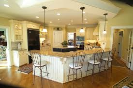 Large open kitchen with eat at bar and island traditional-kitchen