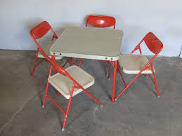 simple childrens folding table and chairs