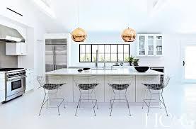 kitchen island with tom dixon copper shade pendants