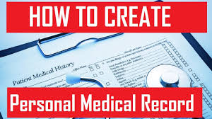 How To Create Your Personal Health Record Create Medical Record