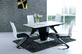 white gloss and glass dining table gloss dining table and 6 chairs black gloss dining table