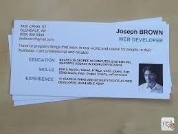 Mini Resume Business Card Templates Mini Cv Brief Summary Of The Cv