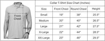 Xl Size Chart India Flag Green Plain Collar Polo T Shirt