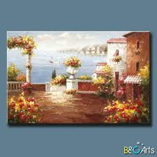 handpainted modern tuscany canvas wall art garden beautiful landscape mediterranean sea italian art oil painting with on mediterranean canvas wall art with handpainted modern tuscany canvas wall art garden beautiful
