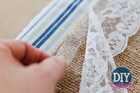 diy burlap and lace table runner tutorial diy s diy table runners wedding for round tables
