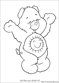Small Picture Care Bears sunshine bear Coloring printable page coloring
