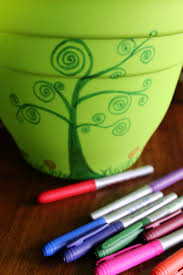 Designs For Flower Pot Painting Diy Fairy Garden And Other Flower Pot Painting Ideas