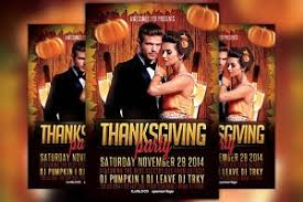 thanksgiving party flyer thanksgiving party flyer template flyer templates creative market
