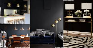 This keeps black from looking too morbid. Chrome and copper fittings help  to make black walls look extra contemporary. If you don't want to go for  metallic ...