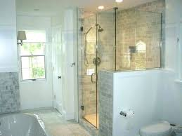 shower half wall with glass traditional metal walls and door block