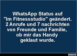 Whatsapp Status Auf Im Fitnessstudio Geändert Lustige Bilder