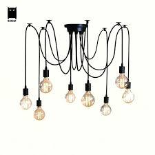 iron black white chandelier ceiling fixture modern loft vintage retro spider lamp design re vintage copper white chandelier