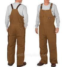 Dickies Bib Overalls Mens Flex Sanded Stretch Duck Insulated