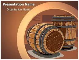 Wine Powerpoint Template Download Winery Wine Barrel Powerpoint Template For Your
