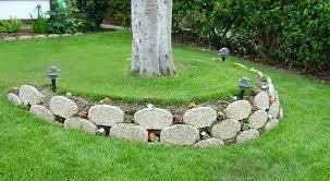 retaining walls around trees build