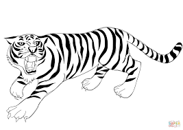 Small Picture Roaring Tiger coloring page Free Printable Coloring Pages