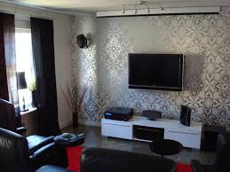 Room ideas  Love the wallpaper  Contemporary Living RoomsSmall ...