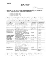 Sbi 3u1 Genetic Continuity Unit Test Review Test Date ______