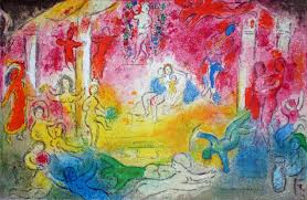 marc chagall temple and history of bacchus from daphnis and chloe