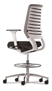 modern drafting chair. Structure Modern White Aluminum Drafting Stool Chair O