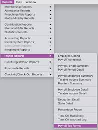 Payroll Tax Worksheet Save Time And Money With Cdm Church Management Software