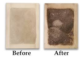 before and after shots to answer the question do foot detox pads work
