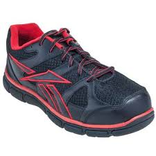 reebok shoes red and black. reebok shoes: rb2204 composite toe athletic men\u0027s red/black work shoes red and black