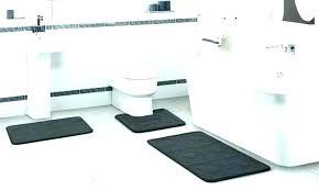 grey memory foam bath mat set rugs sets rug black bathroom white embossed 3 piece ultimate gray memory foam bath mat