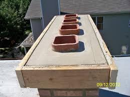 new concrete chimney cap