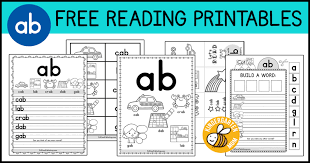 Free printable phonics workbooks, phonics games, worksheet templates, 100s of images for worksheets and more. Ab Word Family Worksheets Kindergarten Mom