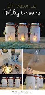Decorated Christmas Jars Ideas DIY Mason Jar Holiday Luminaria The Budget Decorator 83