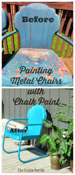 best 25 painting metal chairs ideas on vintage inside spray furniture pertaining to home