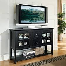 walker edison  console tv stand  black  tv stands  best buy