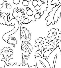 Adam And Eve Coloring Pages For Kids Coloring Page Free