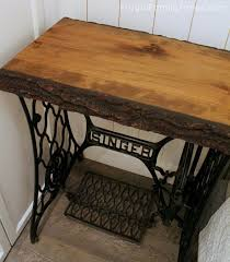 table from a singer sewing machine base