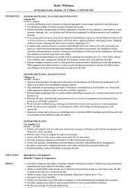 Mechanic Resume Senior Mechanic Resume Samples Velvet Jobs 70